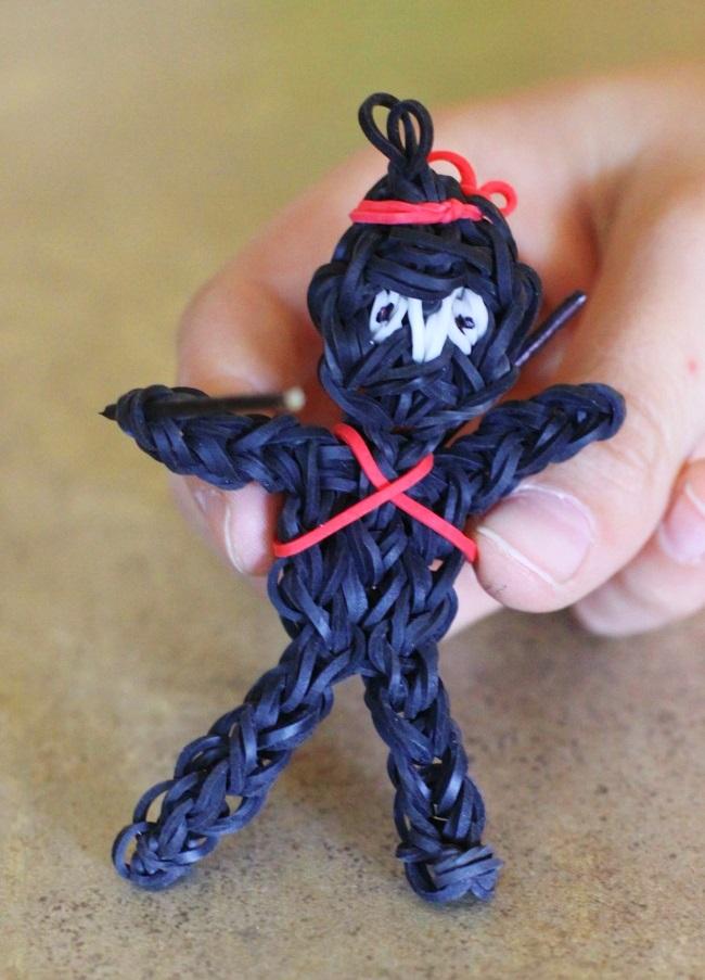 Black Ninja Loom Charm