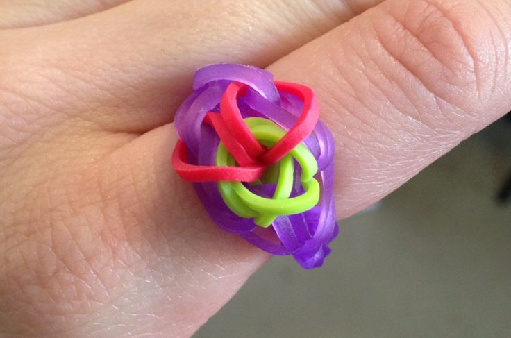 Bright and Colorful Loom Ring