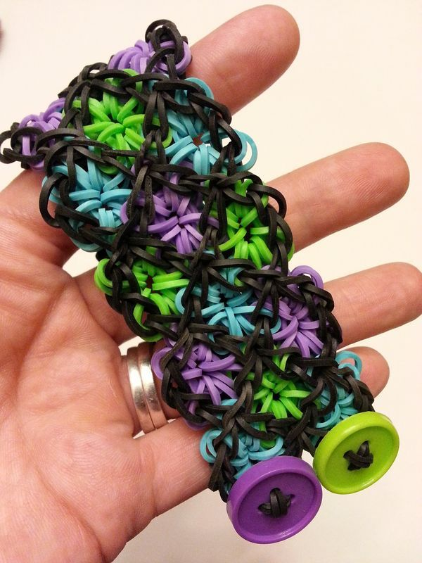 Button Closure Loom Bracelet