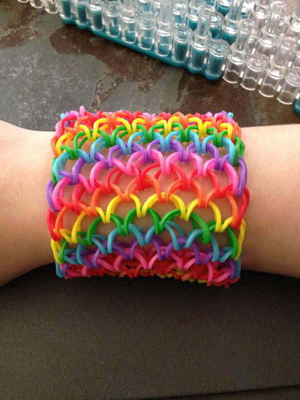 Cute Colourful Link Loom Bracelet