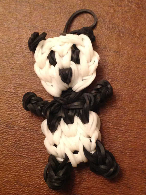 Cute Little Panda Loom Charm