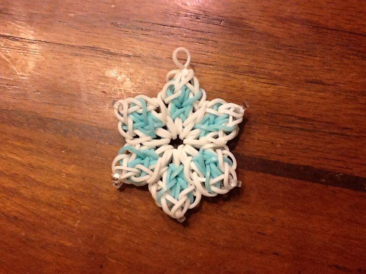 Festive Snowflake Loom Charm