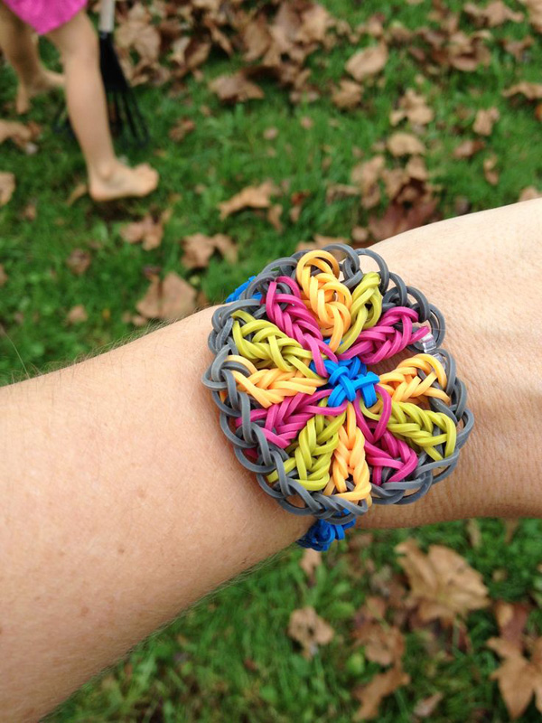 Floral Statement Loom Bracelet