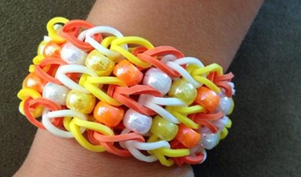Golden Loom Bead Bracelet
