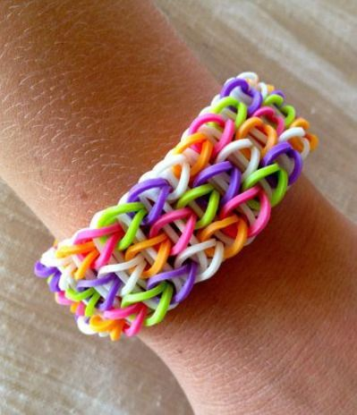Lovely Candy Colour Loom Bracelet