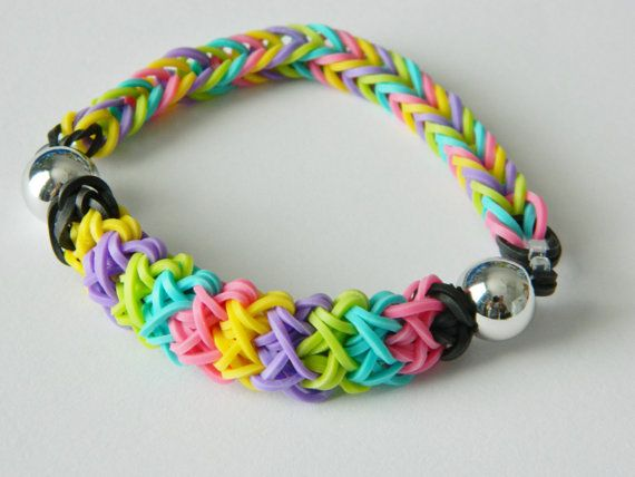 Multi Colour Silver Bead Loom Bracelet