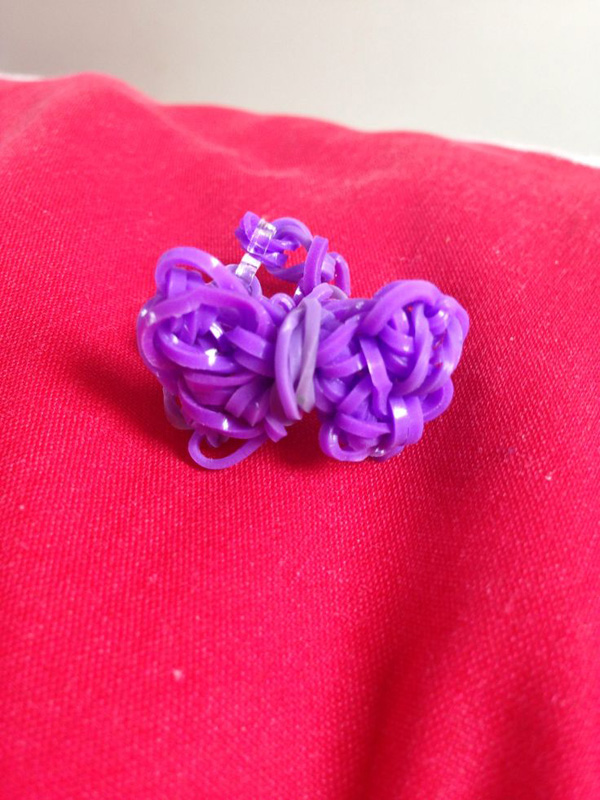 Purple Bow Loom Ring