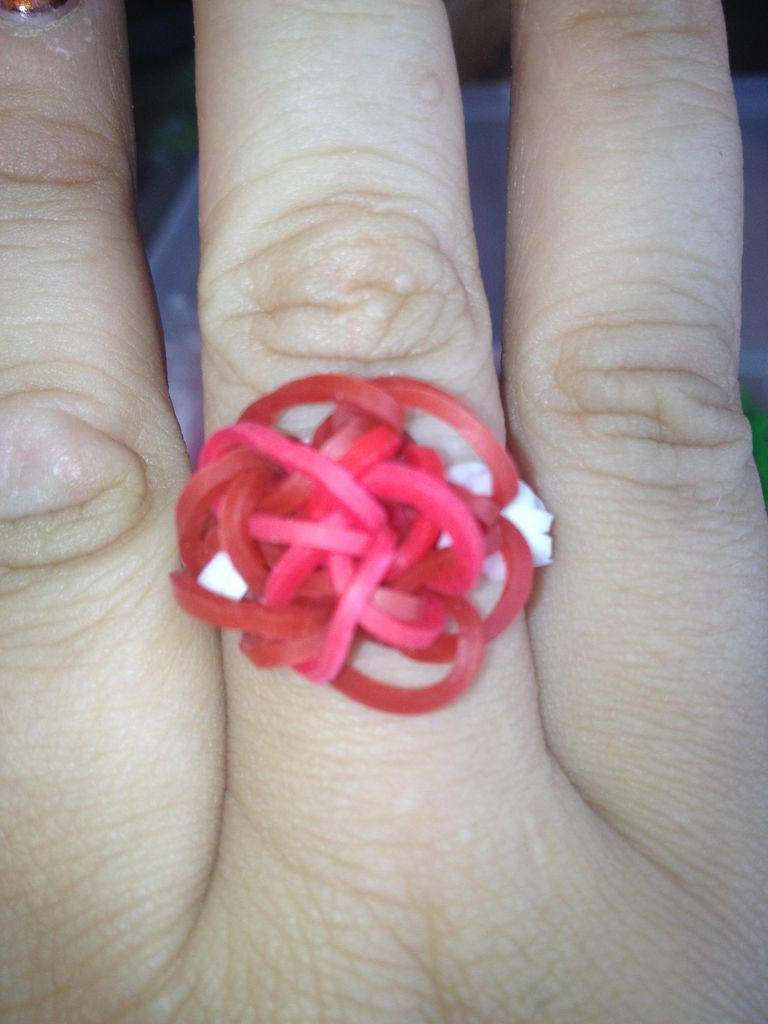 Red Woven Loom Ring