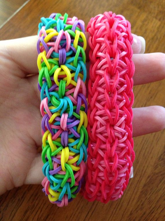 Set of 2 Bright Loom Bracelets