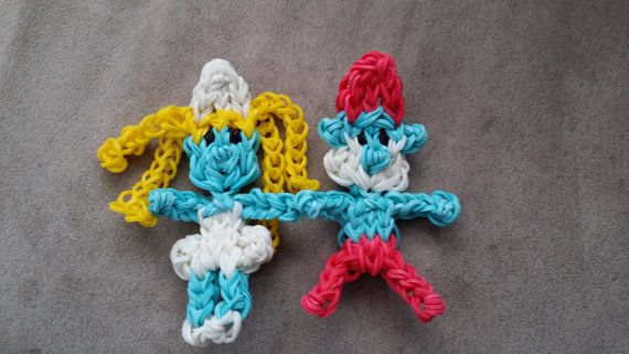 Set of 2 Smurfs Character Loom Charms