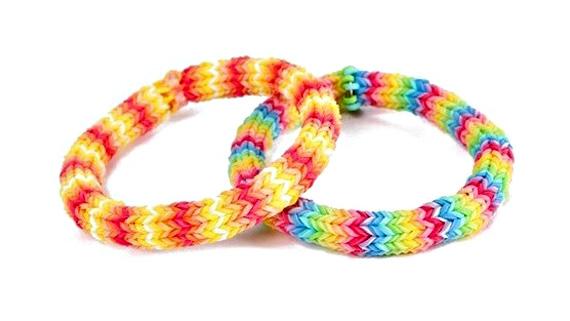 Set Of 2 Zig Zag Loom Bracelets