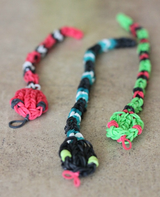 Set of 3 Loom Snake Charms