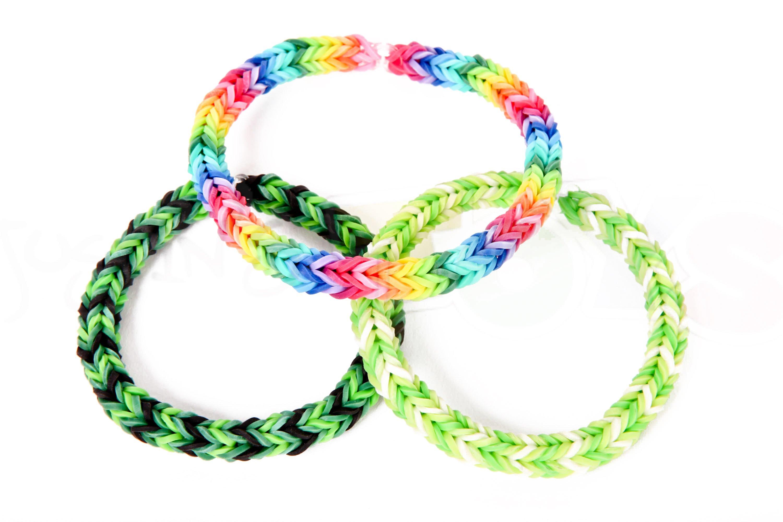Set of 3 Neon Loom Bracelets