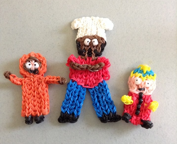 Set of 3 South Park Charms