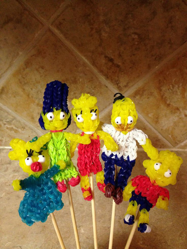 Set of 5 Simpsons Charms
