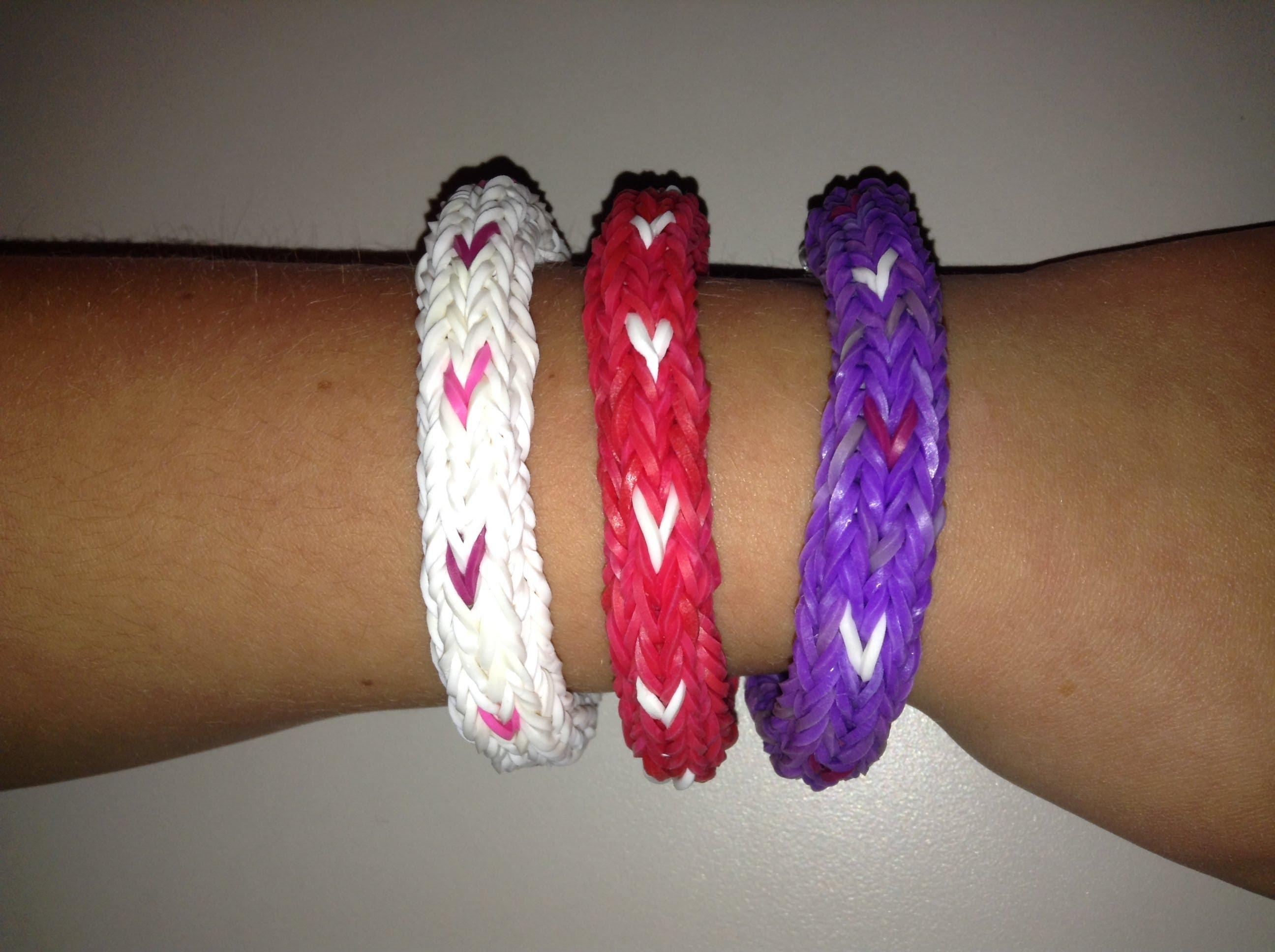 Set of Wide Band Loom Bracelets