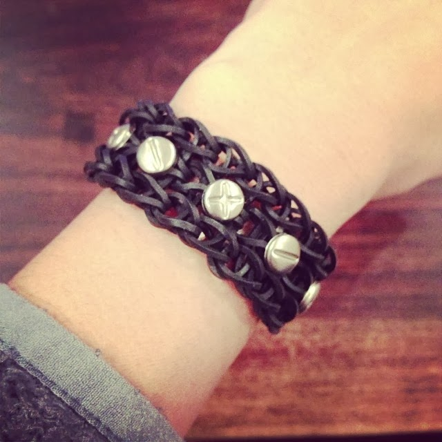 Silver Stud Loom Bracelet