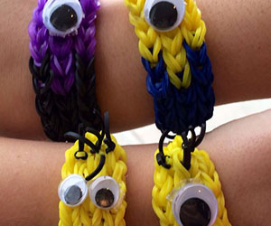 Minion Character Loom Bracelets