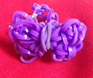 Purple Bow Loom Ring