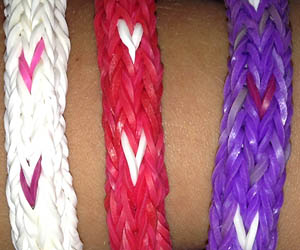 Set of Wide Band Loom Bracelets