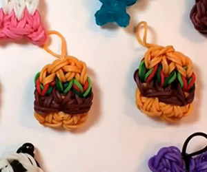 Yummy Hamburger Loom Charm Tutorial