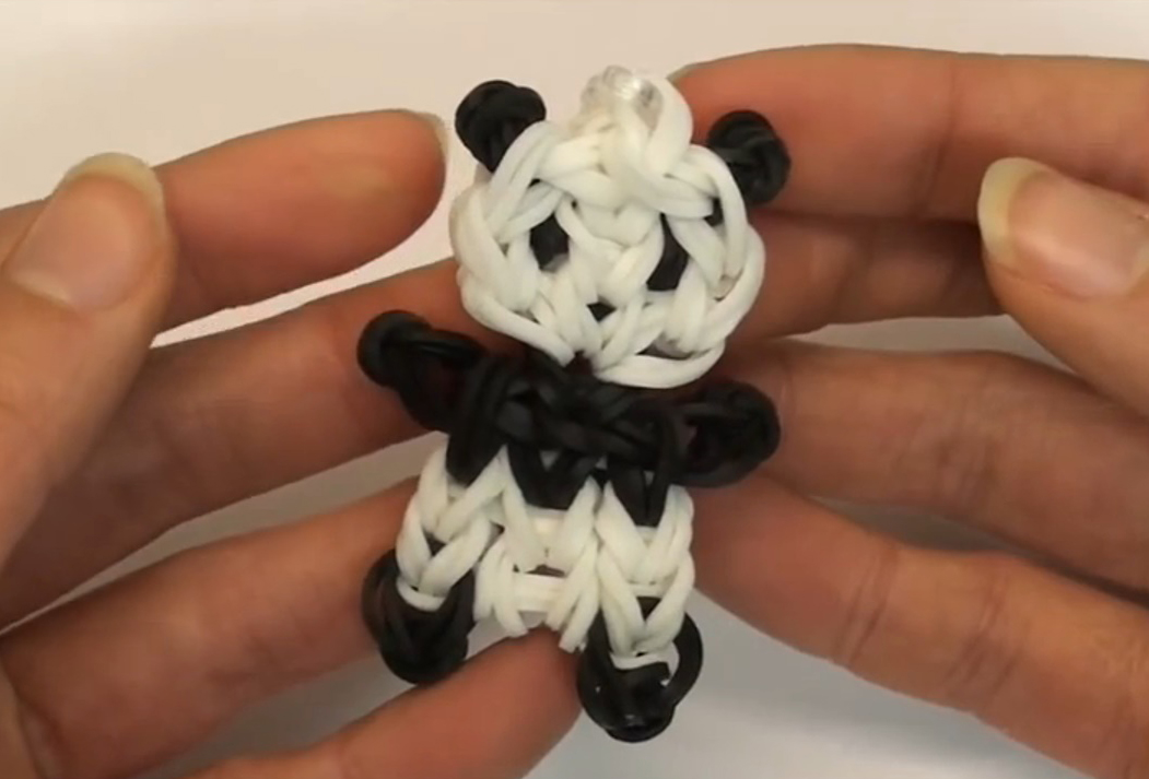 Adorable Panda Charm Loom Tutorial