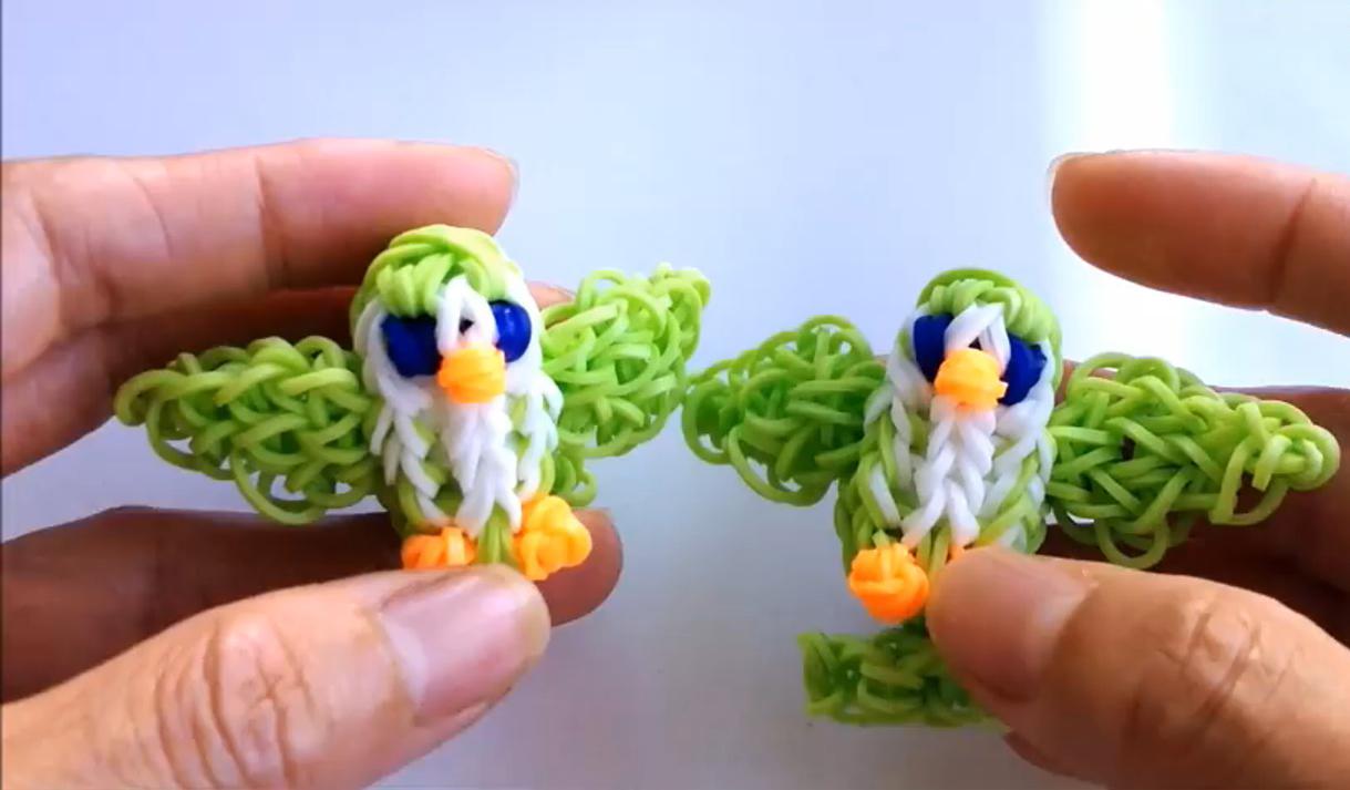 3D Bird Design Loom Charm Tutorial